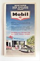 Vintage 1964 Mobil Northern New England Map - ME, NH, & VT - GOOD CONDITION