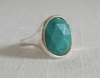 SILPADA STABLILIZED TURQUOISE & STERLING SILVER 'CABANA' RING~SIZE 6~R3052