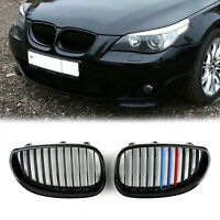 Front Fence Grill Grille Gloss Black M Color Mesh For BMW E60 E61 5x 03-10 /A5