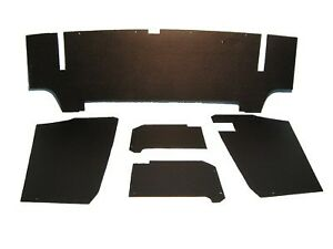 New Black OE Type 5 Piece Trunk Panel Kit for Triumph TR6 1969-76 Made in UK