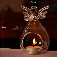 Angel Glass Crystal Hanging Tea Light Candle Holder Home Decor Candlestick #07