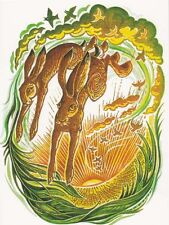 Pagane wiccan greeting card-messaggeri dell' Alba-Lepre COMPLEANNO hedingham Fair