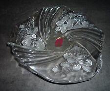 Waltherglas Lead Crystal Bon Bon Snack Bowl / Dish Xmas Christmas Santa Design