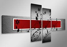 Tableau Déco Moderne Abstrait Contemporain 4 partie Image sur toile 160 x 70 cm