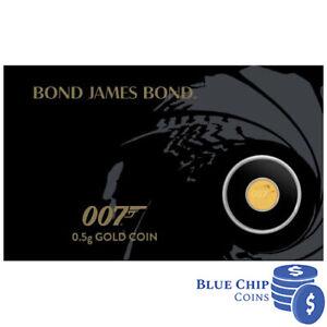 2020 $2 007 James Bond 0.5g Gold Coin on Card