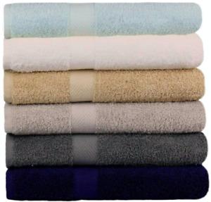 """Springfield Linen 6 Pack Bath Towels Soft Towels 100% Cotton - 27"""" x 54"""""""