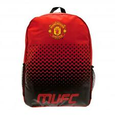 Manchester United FC Official Nylon Backpack School Bag With Mess Side Pockets
