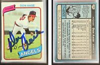 Don Aase Signed 1980 Topps #239 Card California Angels Auto Autograph