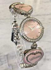 GUESS U11680L1 Women Watch Crystal Steel Pink Enamel face lady bracelet charming