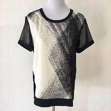Calvin Klein Black & White Zip Top Size M