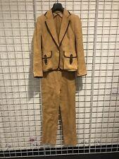 MaxMara Caramel Linen Suit 38R