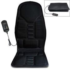 12V Car Seat Heat Massage Chair Cushion Pad Lumbar Neck Shoulder Massager Kit