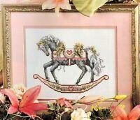 ✔️ Teresa Wentzler Regal VALENTINE ROCKING HORSE Sweetheart Cross Stitch Chart