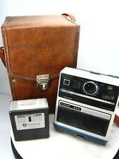 Vintage KODAK EK4 INSTANT Photo CAMERA & Storage Case Bag & FLASH - Untested