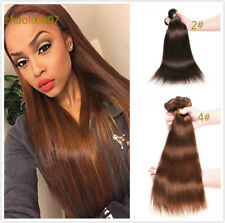 2#/4# Straight Weft 3pcs/150g Real Brazilian Human Hair Extensions Virgin Weave