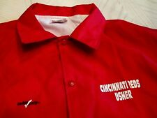 1 OFFICIAL 1990's CINCINNATI REDS WORN USHER BASEBALL JACKET