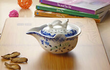 High Grade Ling Long White & Blue Gongfu Teacup Gaiwan w/t Infuser 150ml 5fl.oz