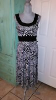 PERCEPTIONS NEW YORK, SLEEVELESS, BEADED, STRETCHY FIT & FLARE LONG DRESS, 10