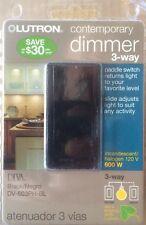 LUTRON  Diva 600W 3-Way Preset Dimmer Switch - Black - DV-603PH-BL - NEW