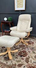 No 2 AMAZING MORAN LEATHER ACTIVE FULL RECLINER ARMCHAIR LOUNGE CHAIR & OTTOMAN