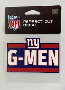 "NY New York Giants 4"" x 4"" Team Logo Truck Car Auto Window Die Cut Decal G-Men"