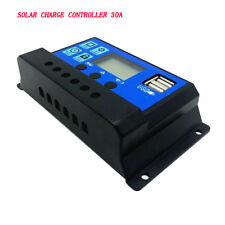 【USA】PWM 30A Solar Charger Controller Solar Panel Battery Intelligent Regulator