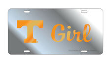 UT UNIVERSITY OF TENNESSEE Mirrored T GIRL License Plate / Car Tag