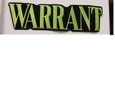 set of 2 LARGE Warrant Rock Concert Band IRON ON Patch - OFFICIAL LICENSED 10""