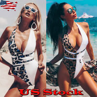 Womens One-Piece Swimsuit Beachwear Swimwear Thong Monokini Bikini Bathing Suit