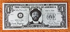 "RARE-DICK GREGORY 1968 PRESIDENTIAL CAMPAIGN-Original ""ONE VOTE"" ticket"