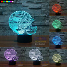 NFL New England Patriots 3D Night Light LED 1 Set Free Shipping 7 Color Change
