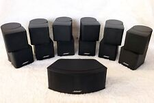 7 Bose Jewel Double Cube Speakers 1 Center Channel+6 Surround 7.1 & 7.2 Systems.