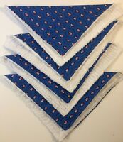 """Fabric Paper Towel Alternatives Set of 4 Wash & Reuse 12"""" Square Cotton Fabric"""