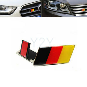 Germany Flag Emblem Front Grill Badge Logo for BMW Audi VW