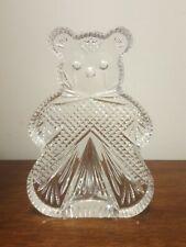 Waterford Crystal Teddy Bear Bookend Figurine Sculpture Nursery Shower Gift