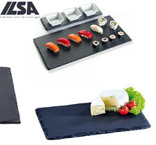 SET 6 PIANO ARDESIA NATURALE Vassoio 26 x 16 SUSHI FINGER FOOD cake design ilsa