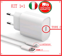✅ kit Caricatore Rapido X IPHONE 12 11 + CAVO Type C Lightening Alimentatore