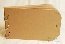 """5.5"""" x 8.5"""" Bare Chipboard Tag Album 8 pages (=16 sides) 3 rings"""