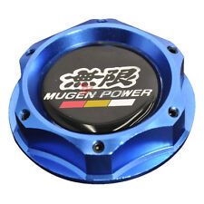 Blue Engine Oil Filler Cap Tank Cover Aluminum With Mugen Emblem For Honda