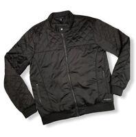SpaceX  sz Medium Unisex Moto Jacket Black Full Zip Quilted Polyester