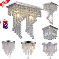 Modern Chandelier Crystal Glass LED Ceiling Light Fixture Pendant Elegant Light