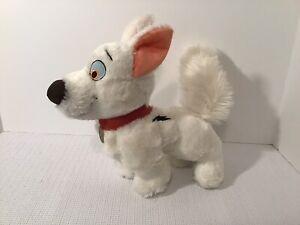"Disney Parks BOLT White Puppy Dog Plush Stuffed Animal Superhero 10"""