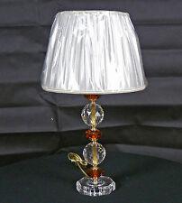 LUME LAMPADA TAVOLO CRISTALLO PIOMBO VETRO TRASPARENTE ROSSO PARALUME ART.LU12