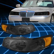 Smoked Housing Amber Side Bumper Headlight for 1998-2002 Lincoln Town Car 4.6L