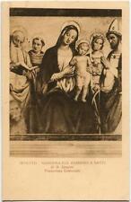 1923 Spoleto - Madonna col bambino santi G. Spagna Pinac. Com. ANNULLI FP B/N VG