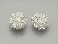 8x Metall Perlen Draht gewickelt silber 9mm sz371