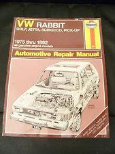 Haynes VW Rabbit Golf Jetta Scirocco & Pickups 1975-1992 All gasoline Engines