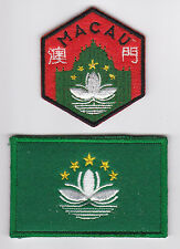 SCOUTS OF MACAU / MACAO - Official Scout Emblem & Flag Patch SET