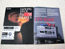 Denon DN-600F CD player / DN-730R Compact Cassette deck brochure