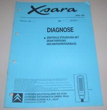 Werkstatthandbuch Citroen Xsara Diagnose Zentrale Steuerung Deaktivierung Airbag